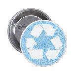 El azul recicla pin