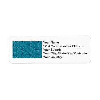 El azul remolina las etiquetas de dirección del ca