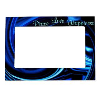 El azul remolina marco magnético abstracto de la f foto de imanes