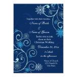 El azul remolina navidad que casa tarjetas de la anuncio