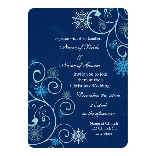 """El azul remolina navidad que casa tarjetas de la invitación 5"""" x 7"""""""