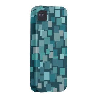 El azul retro ajusta la casamata del iPhone 4 Case-Mate iPhone 4 Carcasa