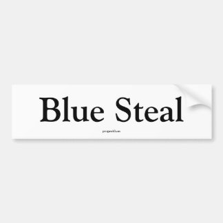 El azul roba pegatina de parachoque