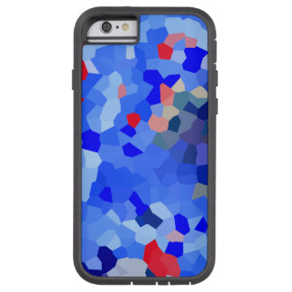 El azul rojo punteó el estilo duro de Xtreme del Funda Tough Xtreme iPhone 6