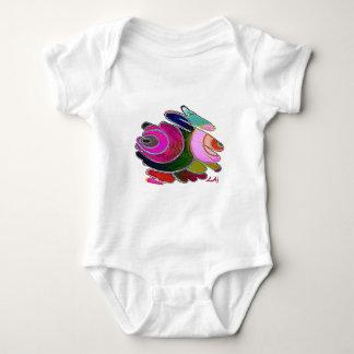 El azul rosado de Frigga tuerce en espiral mono Mameluco De Bebé