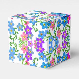 El azul rosado me olvida caja no floral del favor cajas para regalos de fiestas