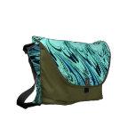 El azul sabio del vintage agita la bolsa de mensaj bolsa de mensajeria
