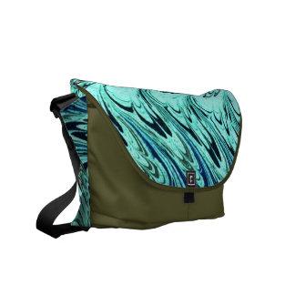El azul sabio del vintage agita la bolsa de mensaj bolsas de mensajería