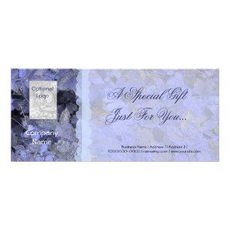 El azul sale de la tarjeta del vale tarjeta publicitaria personalizada