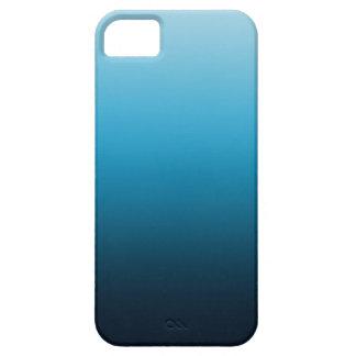 El azul se descolora las cajas del teléfono funda para iPhone 5 barely there