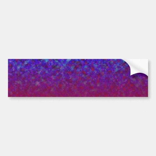 El azul se descolora los personalizables etiqueta de parachoque