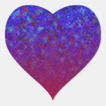 El azul se descolora los personalizables colcomanias de corazon personalizadas
