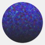 El azul se descolora los personalizables pegatinas redondas