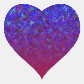 El azul se descolora los personalizables pegatina en forma de corazón