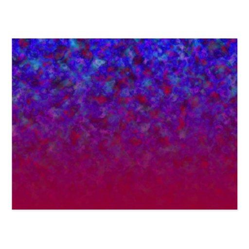 El azul se descolora los personalizables postal
