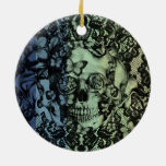 El azul se descolora modelo del cráneo del cordón ornamento para reyes magos