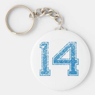 El azul se divierte Jerzee número 14 Llavero