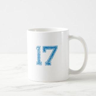 El azul se divierte Jerzee número 17 Taza
