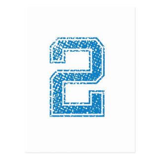El azul se divierte Jerzee número 2 Postal
