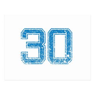 El azul se divierte Jerzee número 30 Postal