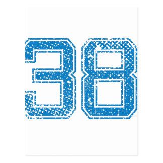 El azul se divierte Jerzee número 38 Tarjetas Postales