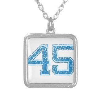 El azul se divierte Jerzee número 45 Colgantes Personalizados