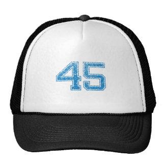 El azul se divierte Jerzee número 45 Gorras De Camionero