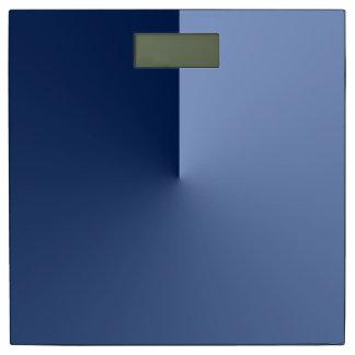El azul sombrea Absract Báscula