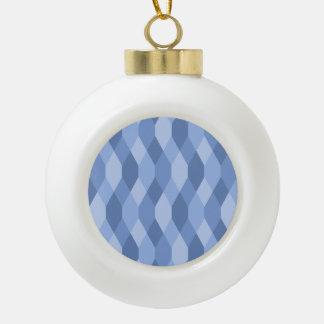El azul sombrea el modelo del Rhombus y del Adorno De Cerámica En Forma De Bola