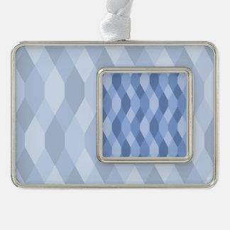 El azul sombrea el modelo del Rhombus y del Adornos Navideños