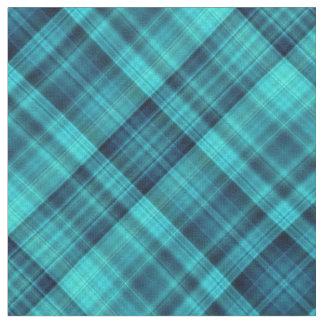 El azul sombrea el tartán telas