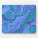 El azul soña el cojín de ratón del arte abstracto alfombrilla de ratones