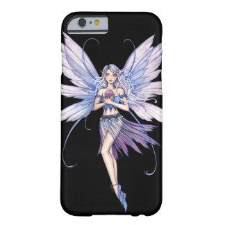 El azul susurra arte de la hada de la fantasía funda de iPhone 6 barely there