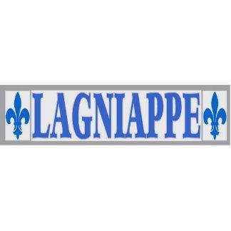 El azul teja Lagniappe Fotoescultura Vertical