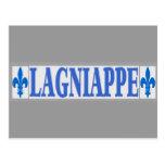El azul teja Lagniappe Postal