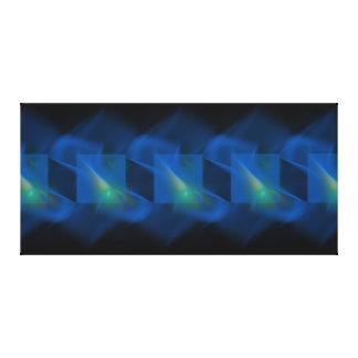El azul toca la trompeta lona Galería-lista Impresión En Lona
