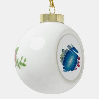 El azul tuerce en espiral ornamento de cerámica de adorno de cerámica en forma de bola