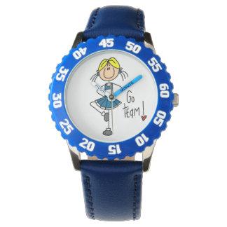 El azul va animadora del equipo reloj de mano