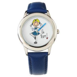 El azul va animadora del equipo relojes de mano