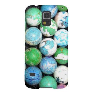 El azul vetea la caja de Samsung Gallaxy S5 Carcasas Para Galaxy S5