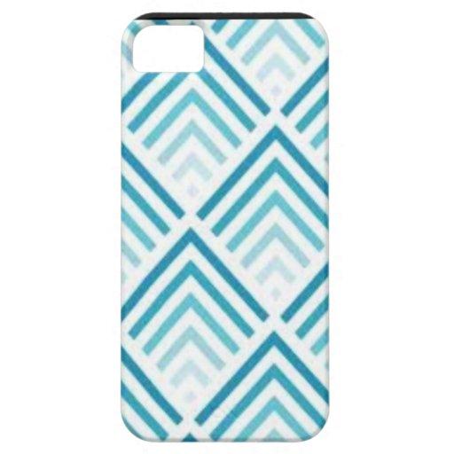 El azul y el blanco alinearon el iPhone 5 de las iPhone 5 Carcasa