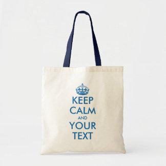 El azul y el blanco guardan personalizable bolsa de mano