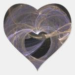 El azul y el oro remolinaron corazón del arte del pegatina de corazon personalizadas