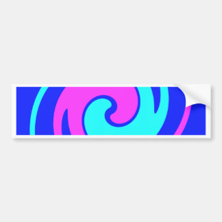 El azul y el rosa remolinaron pegatina para auto