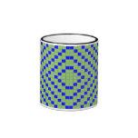 El azul y el verde bloquean/taza cuadrada del mode