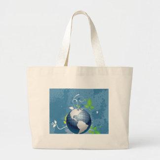 El ~ azulverde de la tierra conserva recicla soste bolsas lienzo