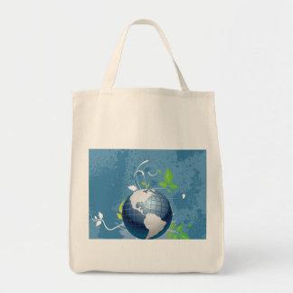 El ~ azulverde de la tierra conserva recicla soste bolsa