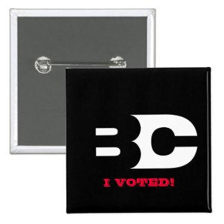 """EL B-CAST """"VOTÉ"""" EL BOTÓN PIN CUADRADO"""