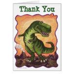 El B-Día del dinosaurio de TRex le agradece cardar Tarjeta De Felicitación