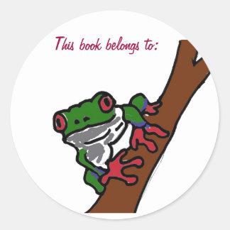 El BA este libro pertenece a: pegatina de la rana